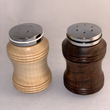 Salt & Pepper Shakers - Curly Maple and Walnut