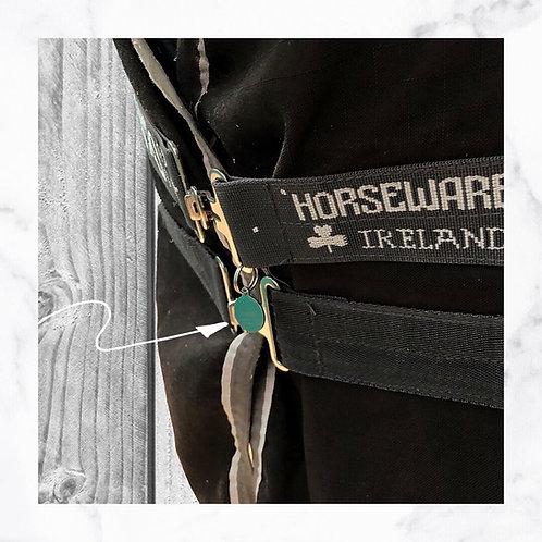 KLEA SET horse charm blanket lettering