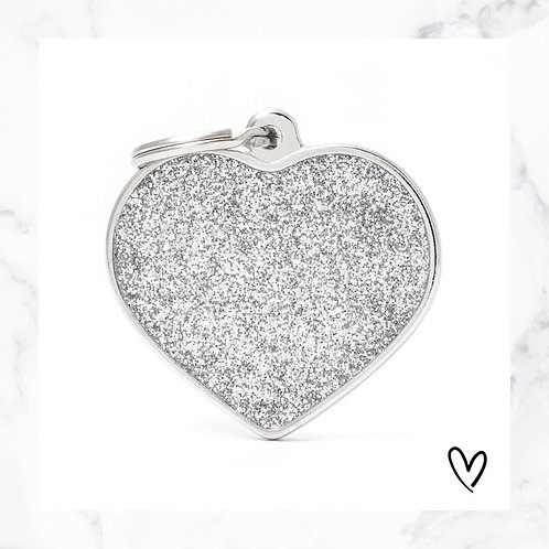 KLEA charm glitter heart large individually