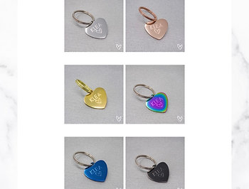 KLEA charm heart individually