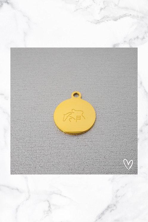 KLEA Marke Rund Gold mit eigenem Logo