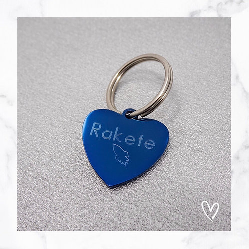 KLEA Marke Herz Blau mit eigenem Logo