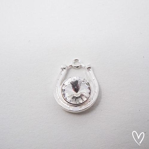 horseshoe pendant silver