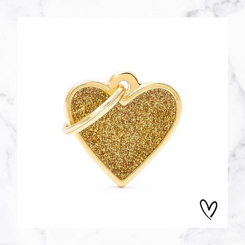 KLEA charm glitter heart gold