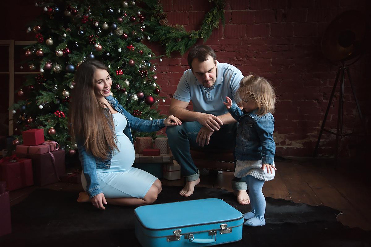 фотосессия беременности в студии