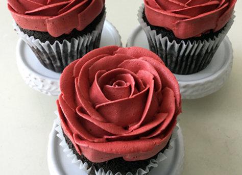 Red Rose cupcake 1 pcs
