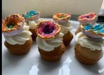 Vegan Geode Mini Cupcake 12 pcs Set