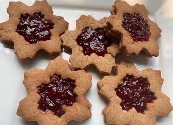 Vegan Linzer Cookies 12 pcs Set