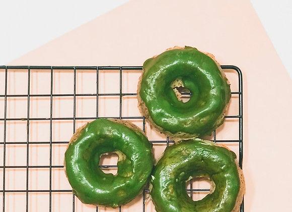 Kale donuts with Macha glaze 6 pcs