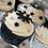 Thumbnail: Black & White Cupcake 4 pcs set