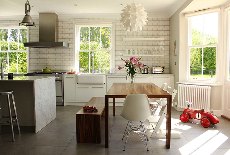 contemporary-white-tiled-kitchen