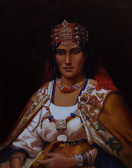 Middle Eastern Portrait of a woman with