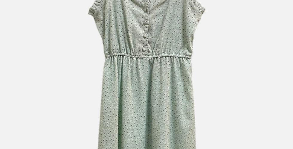 Sage Floral Dress