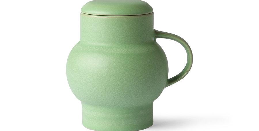 Green Bubble Mug with Lid