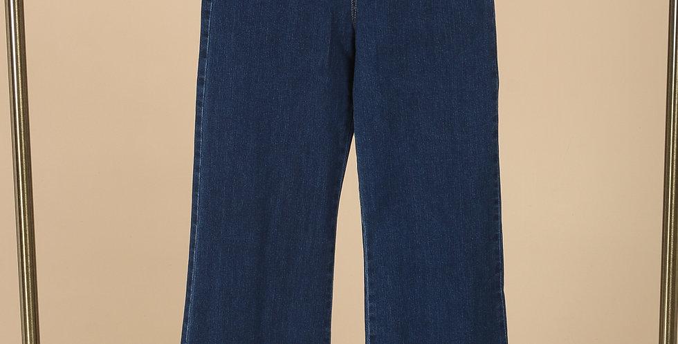 Flared High Waist Jean - Blue