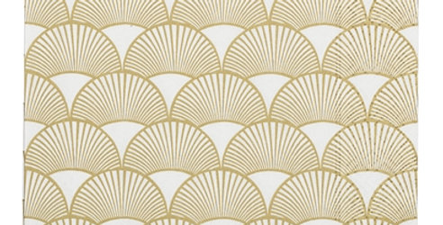 Gold Deco Shell Paper Napkins - 20 PACK