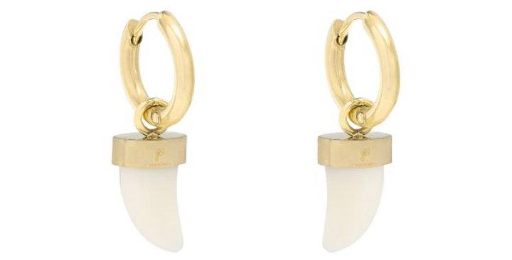 Earrings Fairy Tooth - White