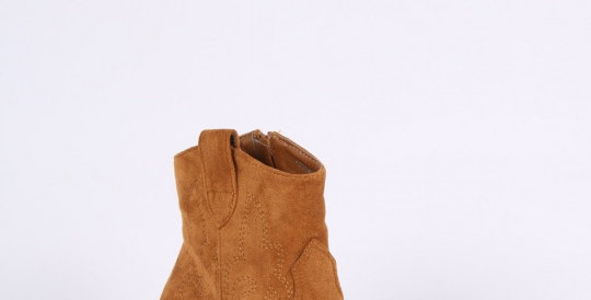Suede Ankle Boots - Camel