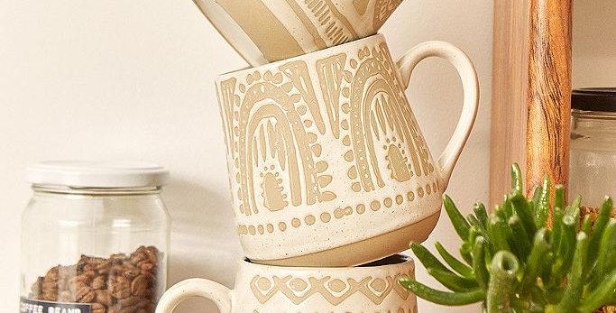 Inca Mug, Stoneware