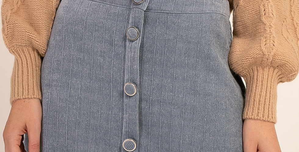 Mini Skirt - Cement Blue