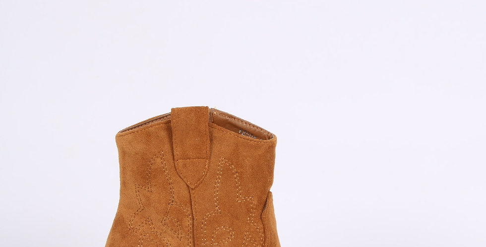 Suede Ankle Boot - Camel