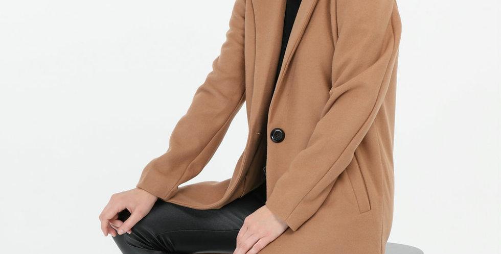 Camel Collar Long Coat