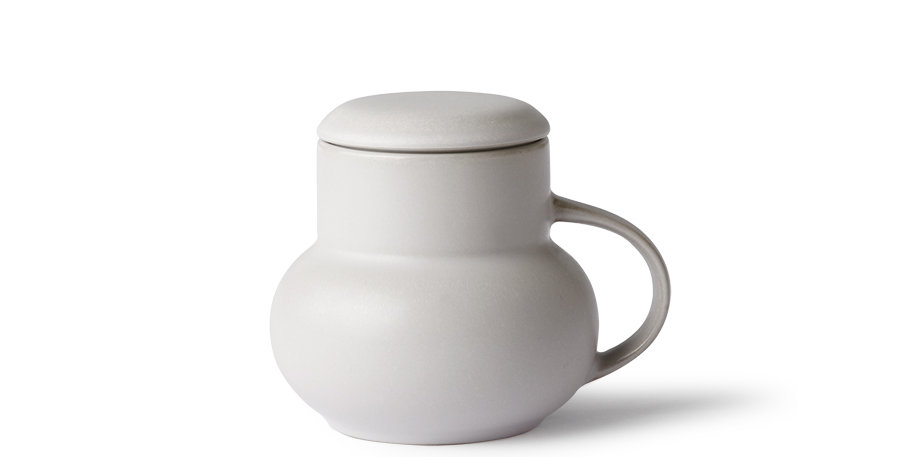 Grey Bubble Mug with Lid