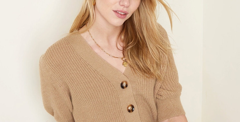 Short-Sleeved Cardigan - One size