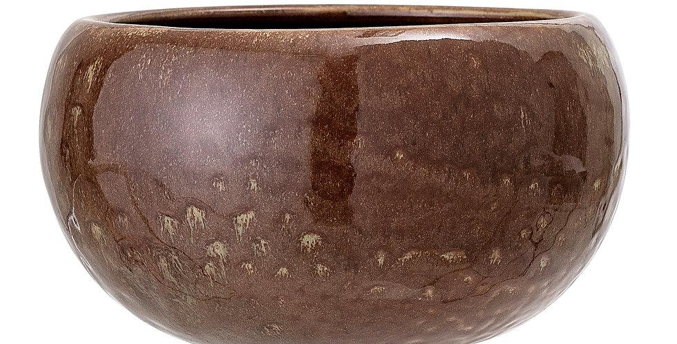 Gisli Flowerpot, Brown, Stoneware
