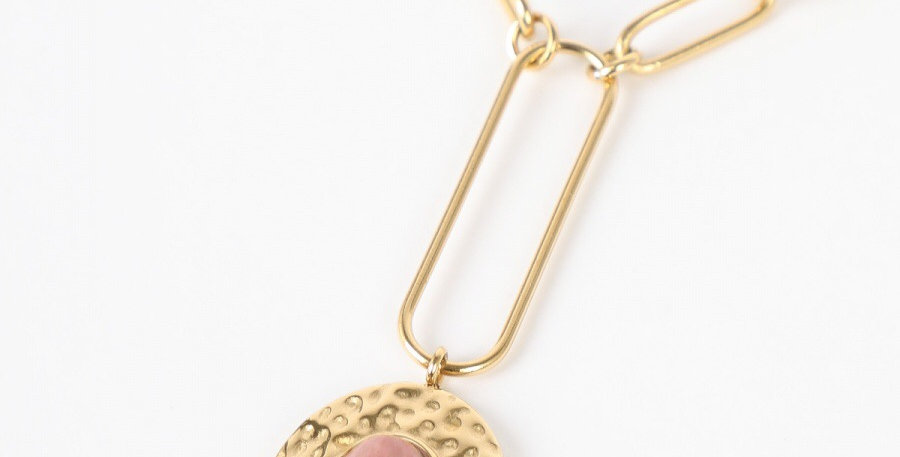 Rose Stone Gold Necklace