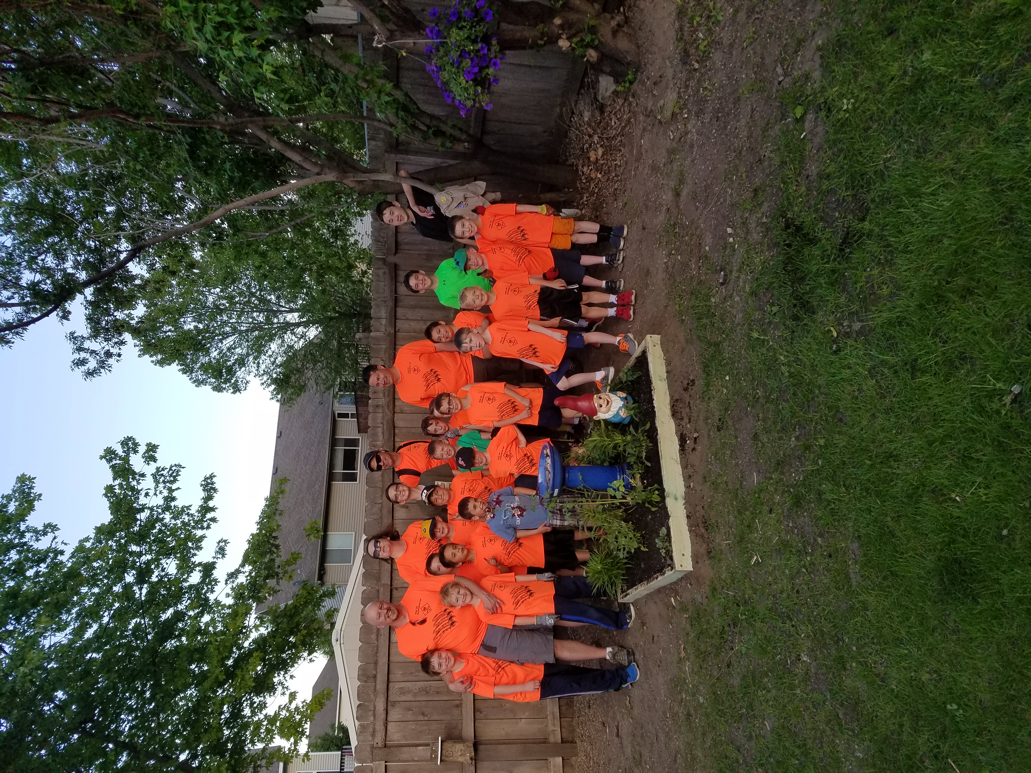 Scouts with Pollinator Garden
