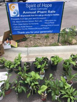 Spirit of Hope Plant Sale Sign