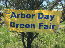 Sunfish Lake Arbor Day Green Fair Sign