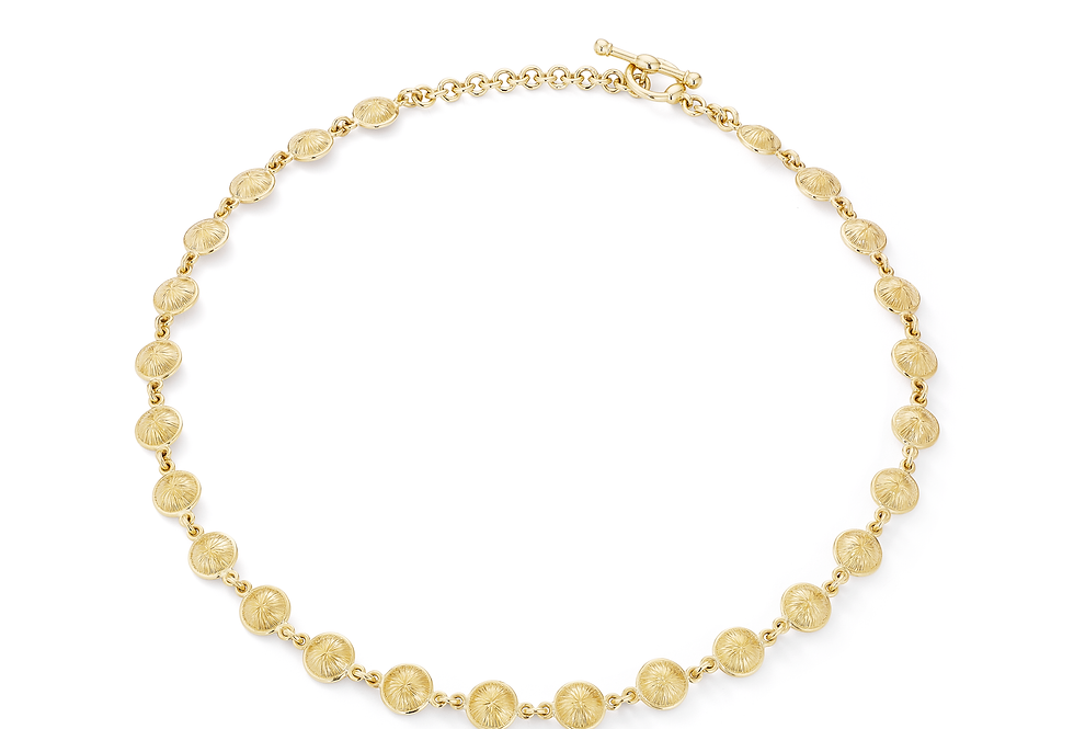 18ct yellow gold and diamond necklace