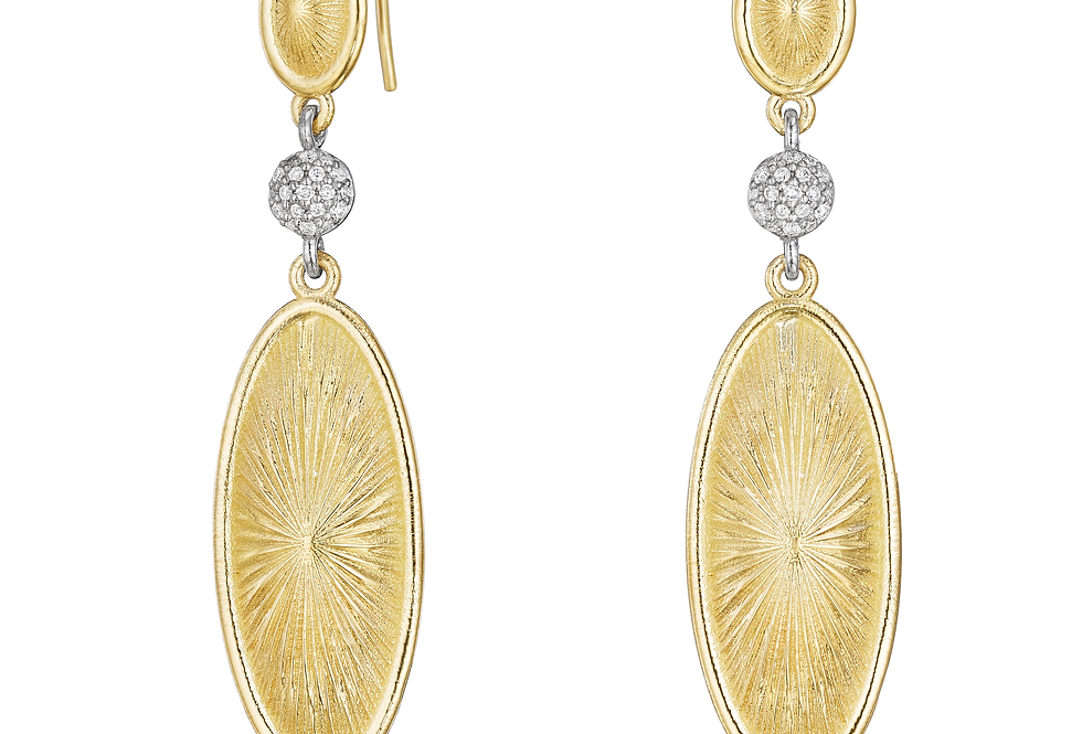 18ct yellow gold and diamond earrings