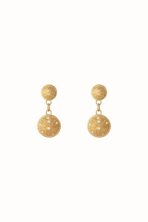 Constellation Double Drop Earrings