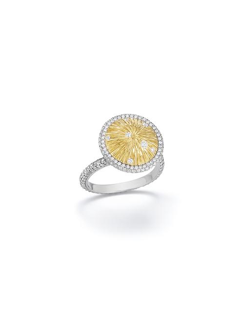 18ct yellowgold and diamond ring