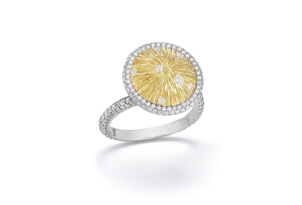 18ct yellowgold and diamond ring