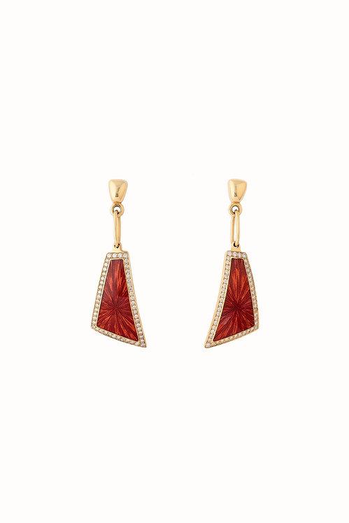 Edge Ruby Earrings
