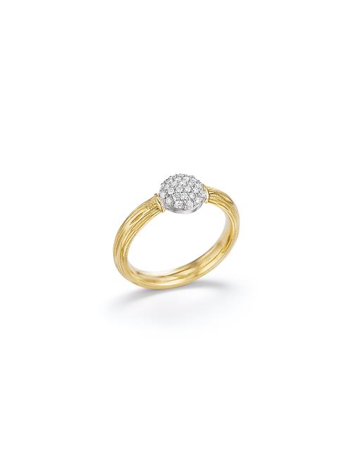 18ct yellow gold diamond ring