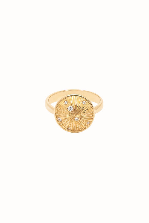 Constellation Diamond Scattered Ring