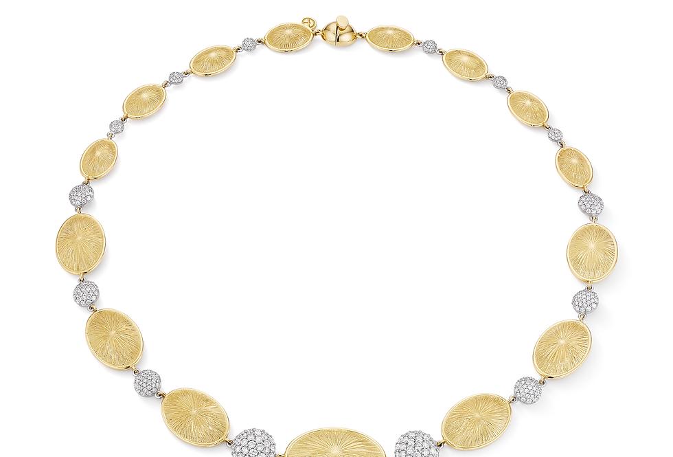 18ct yellow gold diamond necklace
