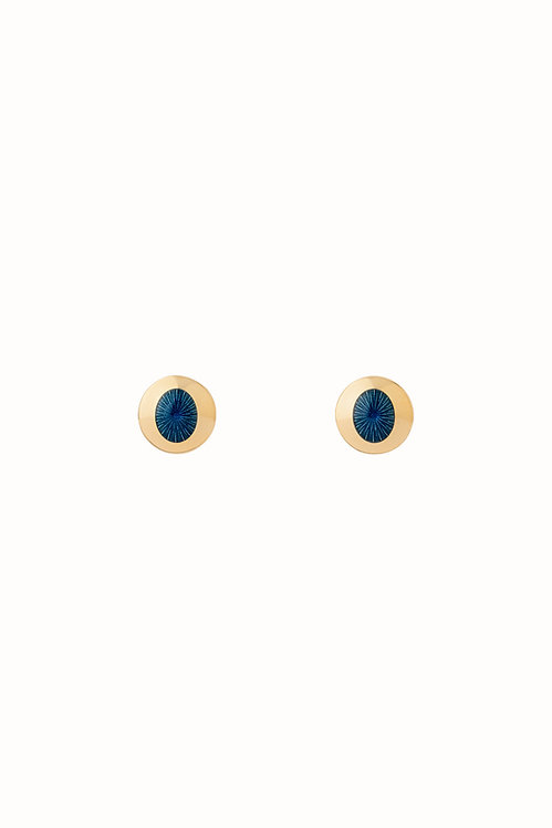 Ellipse Deep Ocean Stud Earrings
