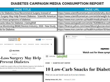 Spectrum's Media Consumption Report - Diabetes Campaign