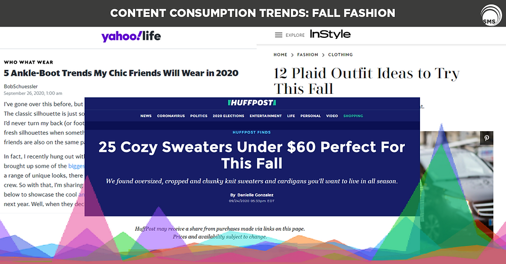 fall fashion content consumption trends spectrum media services cookieless targeting online advertising
