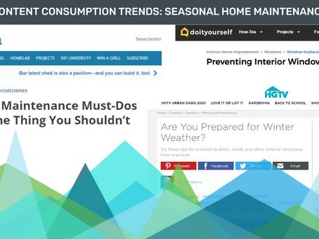Content Consumption Trends: Seasonal Home Maintenance