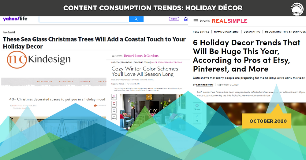 holiday decor content consumption trends spectrum media services cookieless targeting online advertising