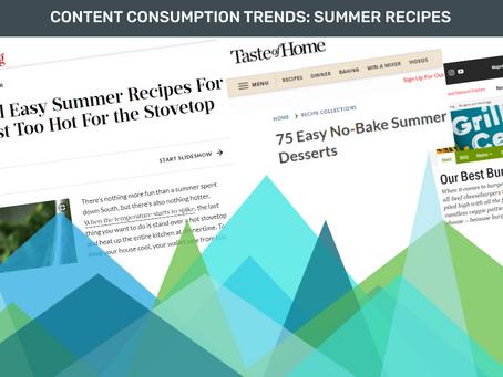 Content Consumption Trends: Summer Recipes