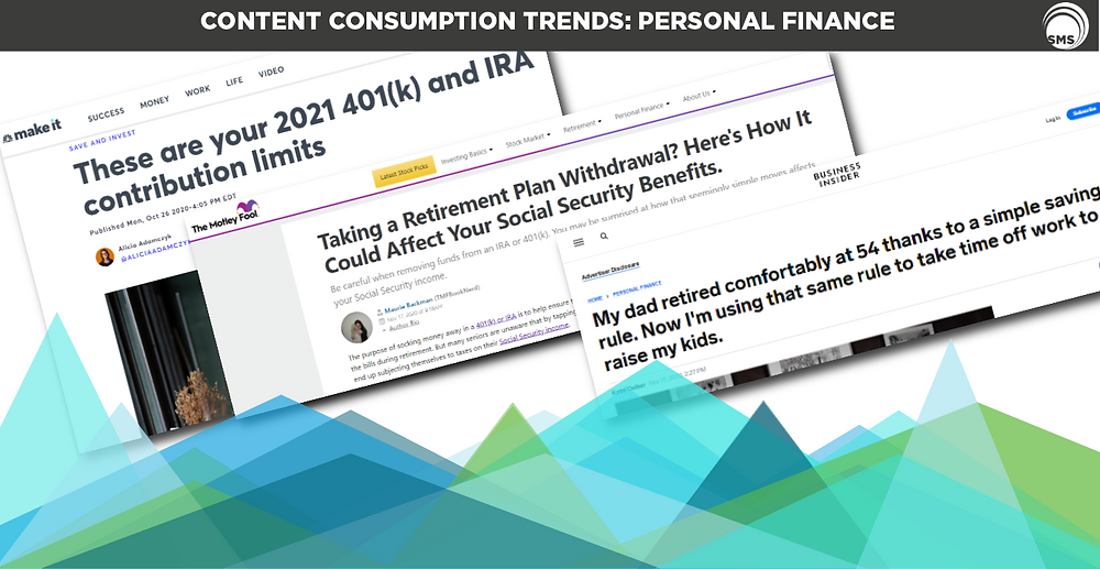 personal finance content consumption trends spectrum media services cookieless targeting