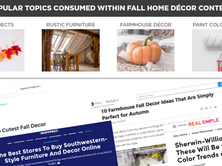 Popular Topics Consumed Within Fall Home Décor Content